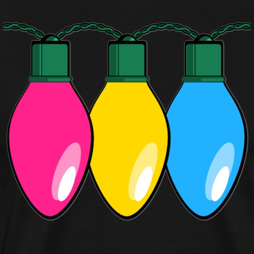 Pansexual Pride Christmas Lights - Men's Premium T-Shirt