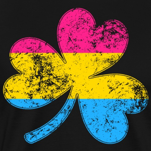 Pansexual Shamrock Pride Flag - Men's Premium T-Shirt