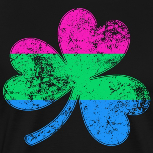 Polysexual Shamrock Pride Flag - Men's Premium T-Shirt