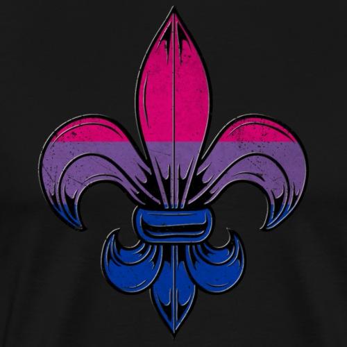Bisexual Pride Flag Fleur de Lis TShirt - Men's Premium T-Shirt
