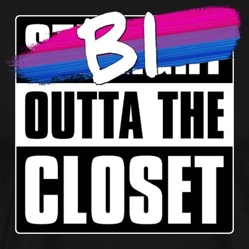 Bi Outta the Closet - Bisexual Pride - Men's Premium T-Shirt