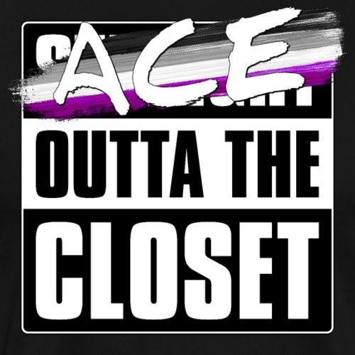 Ace Outta the Closet - Asexual Pride - Men's Premium T-Shirt