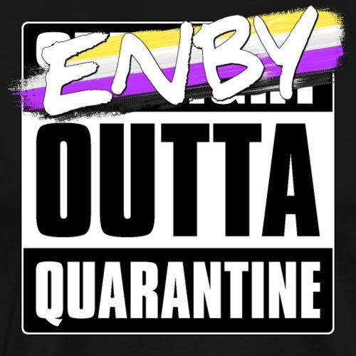 Enby Outta Quarantine - Nonbinary Pride - Men's Premium T-Shirt