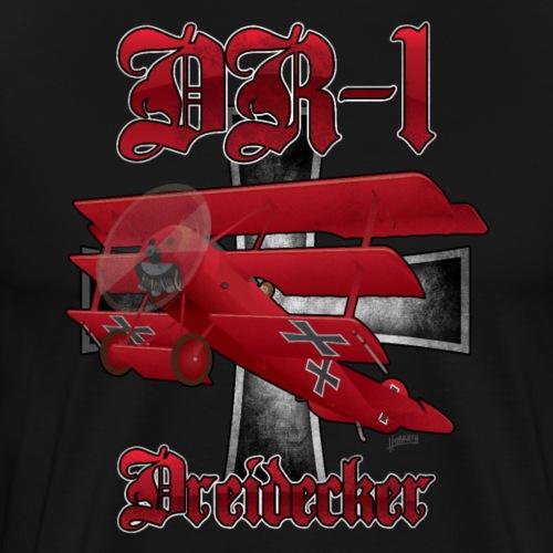 DR-1 Dreidecker Red Baron Triplane WWI Warbird - Men's Premium T-Shirt