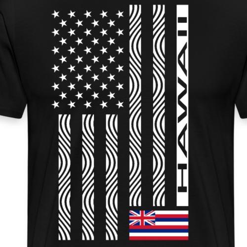 Modern US State Flag T-Shirt: HAWAII - Men's Premium T-Shirt