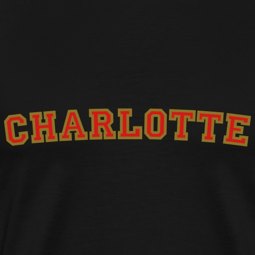 Charlotte College Style Rounded - Men's Premium T-Shirt