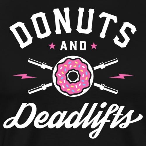 Donuts And Deadlifts - Men's Premium T-Shirt