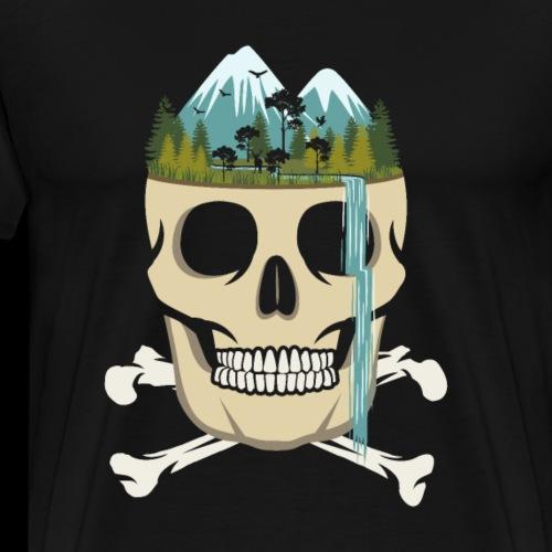 Skull Waterfall - Men's Premium T-Shirt