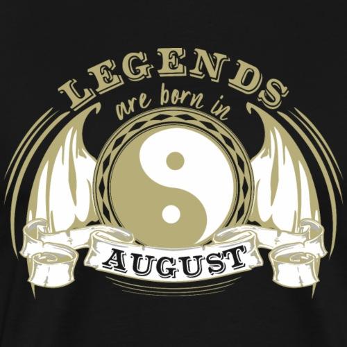 Legends are born in August - Men's Premium T-Shirt