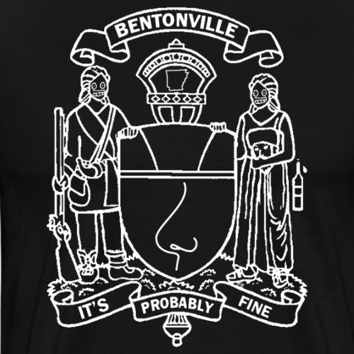 Bentonville Coat of Arms in white - Men's Premium T-Shirt