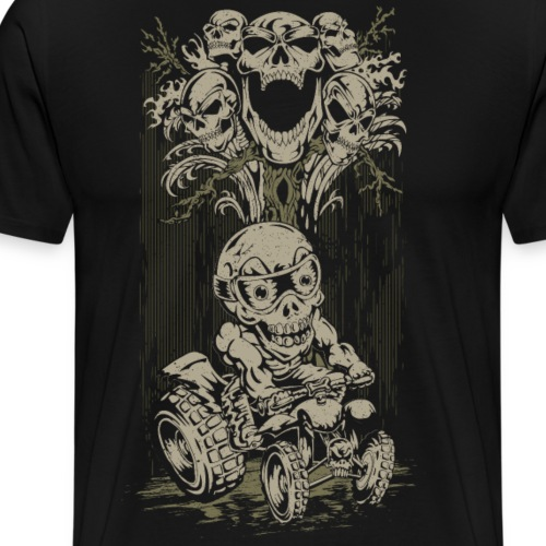 ATV Skully Skull Tree - Men's Premium T-Shirt