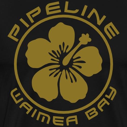 Pipeline at Waimea Bay-North Shore of Oahu, Hawaii - Men's Premium T-Shirt
