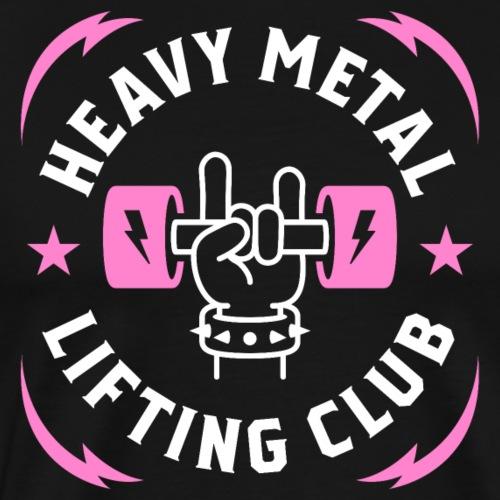 Heavy Metal Lifting Club (Pink) - Men's Premium T-Shirt