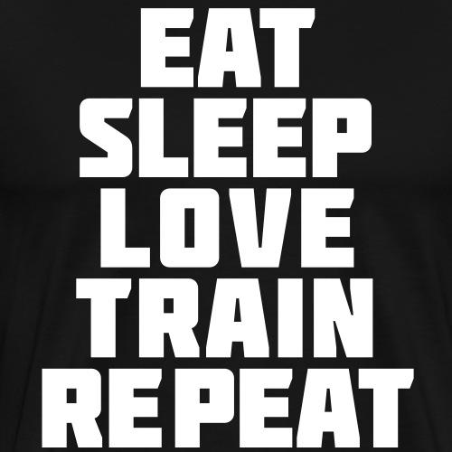 Eat Sleep Gym Motivation - Men's Premium T-Shirt