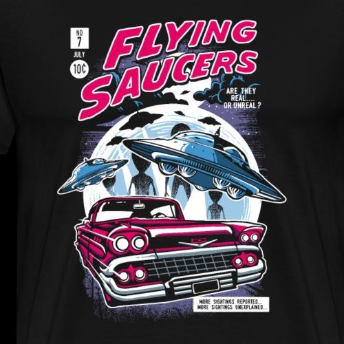 Flying Saucers Comic Book - Men's Premium T-Shirt