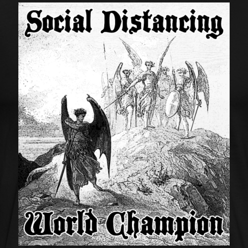 Social Distancing World Champion - Men's Premium T-Shirt