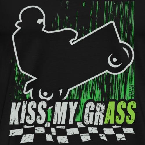 Kiss My Grass Lawnmower - Men's Premium T-Shirt