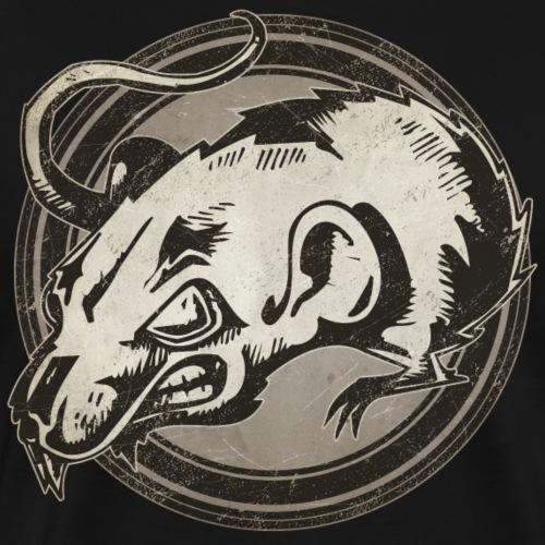 Wild Rat Grunge Animal - Men's Premium T-Shirt