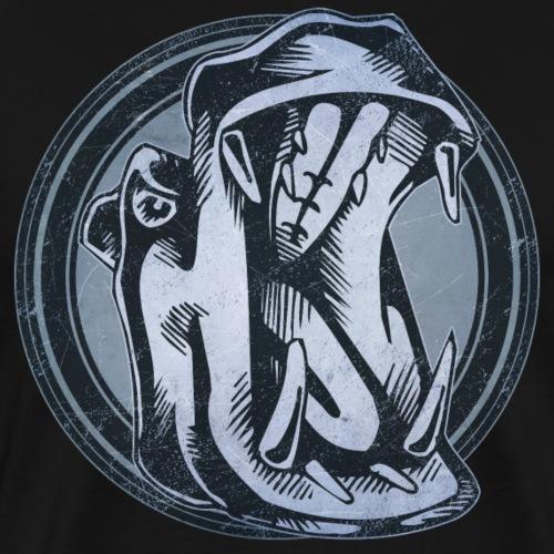 Wild Hippo Grunge Animal - Men's Premium T-Shirt