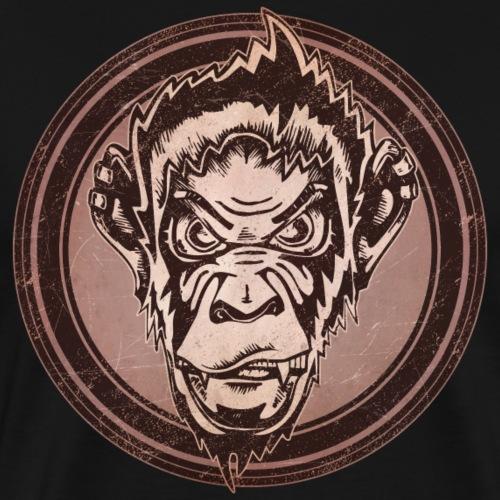 Wild Chimp Grunge Animal - Men's Premium T-Shirt