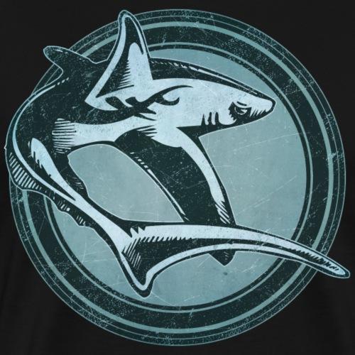 Wild Shark Grunge Animal - Men's Premium T-Shirt