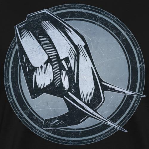 Wild Elephant Grunge Animal - Men's Premium T-Shirt