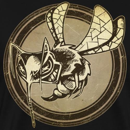 Wild Wasp Grunge Animal - Men's Premium T-Shirt