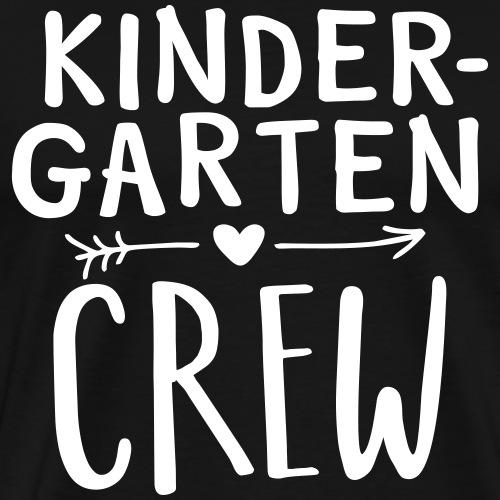 Kindergarten Crew Heart Arrow Teacher T-Shirts - Men's Premium T-Shirt