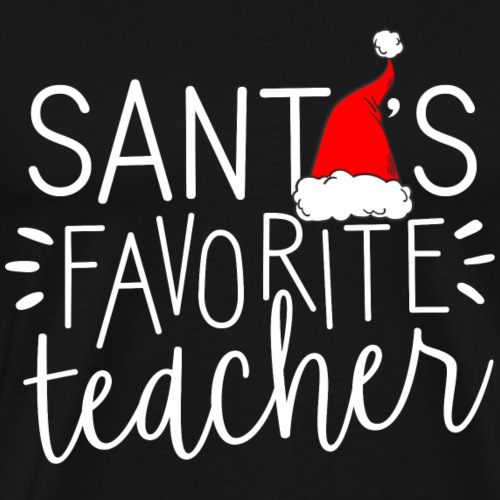 Santa's Favorite Teacher Christmas Teacher T-Shirt - Men's Premium T-Shirt