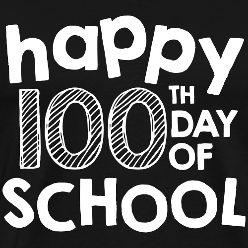 Happy 100th Day of School Chalk Teacher Shirts - Men's Premium T-Shirt