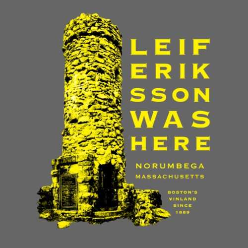 Leif Eriksson Was Here Double-Sided T-Shirt - Men's Premium T-Shirt