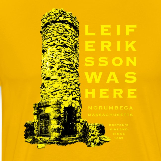 Leif Eriksson Was Here Double-Sided T-Shirt