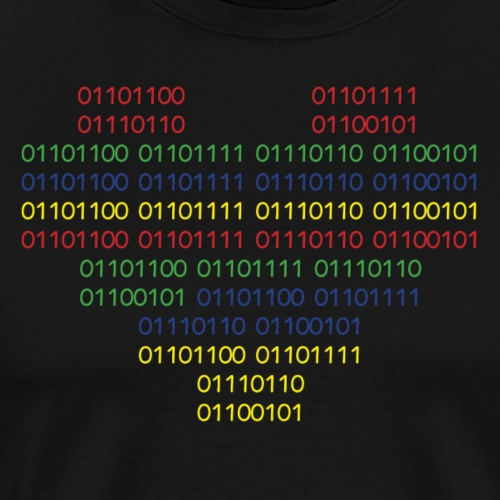 binary love - Men's Premium T-Shirt
