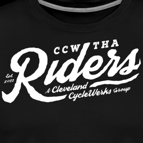 Tha Riders Cleveland script Motorcycle design - Men's Premium T-Shirt