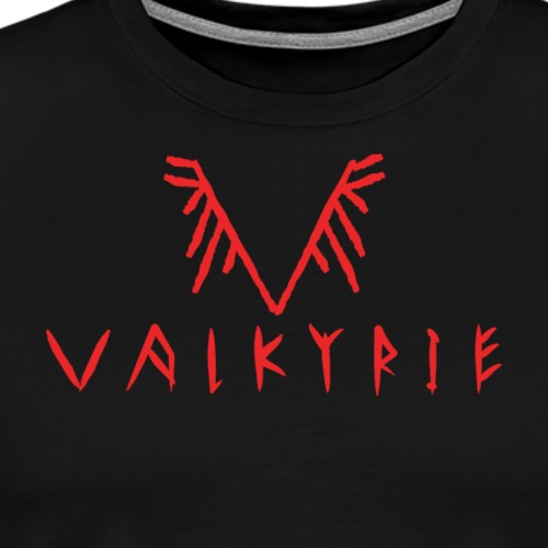 Valkyrie Rune Logo (red) - Men's Premium T-Shirt