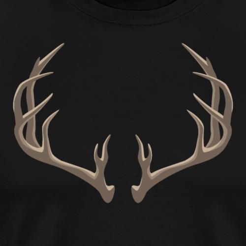 Antlers Illustration - Men's Premium T-Shirt