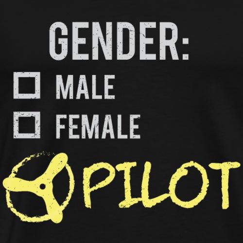 Gender: Pilot! - Men's Premium T-Shirt