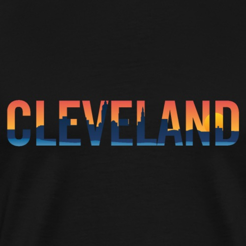Cleveland Ohio Pride Illustration - Men's Premium T-Shirt
