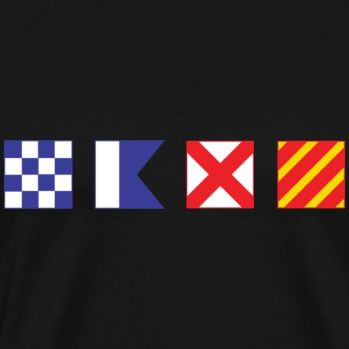 N - A - V - Y Spelled out in Signal Flags - Men's Premium T-Shirt