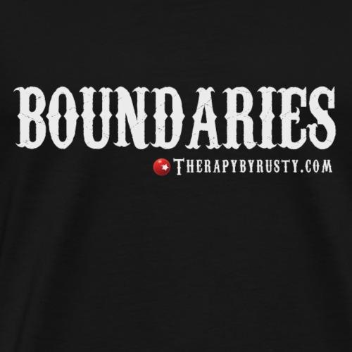 Boundaries Grey Type - Men's Premium T-Shirt