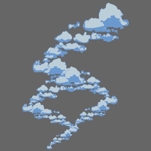 designer clouds - Men's Premium T-Shirt