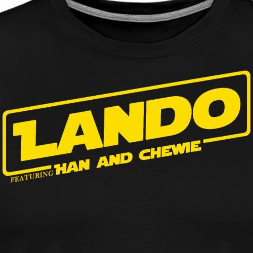 LANDO Featuring Han and Chewie - Men's Premium T-Shirt