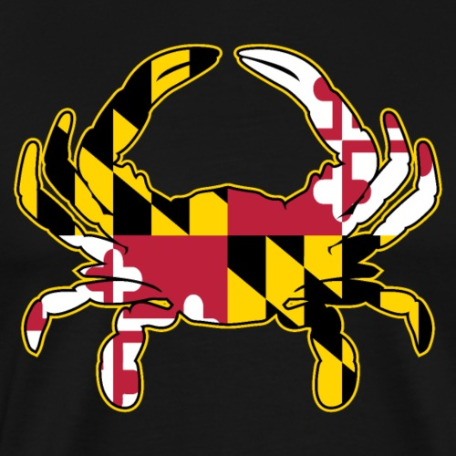 Maryland Flag Crab Illustration - Men's Premium T-Shirt