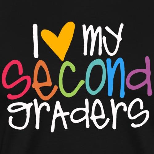 I Love My Second Graders Teacher Shirt - Men's Premium T-Shirt