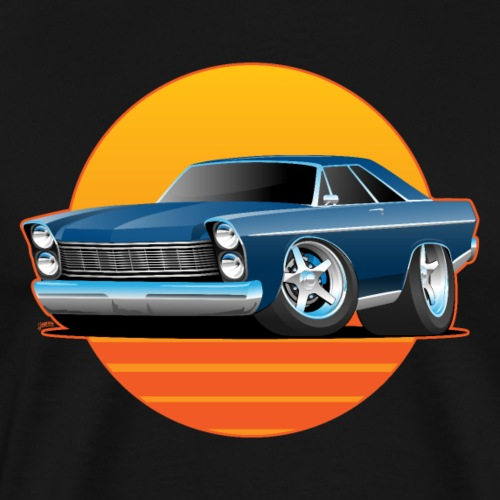 Classic Sixtes Big American Muscle Car - Men's Premium T-Shirt