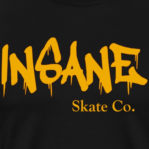 Insane Skate Co yellow - Men's Premium T-Shirt