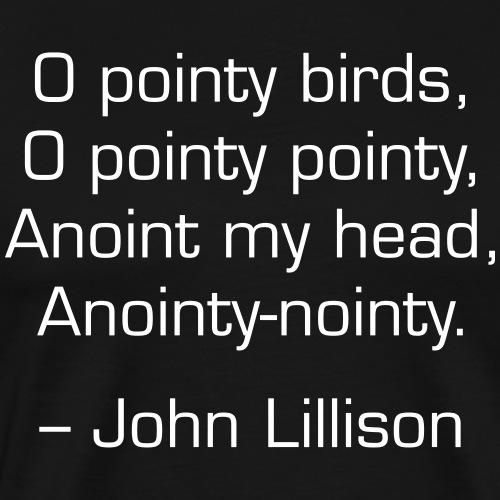 O Pointy Birds Poem - Men's Premium T-Shirt