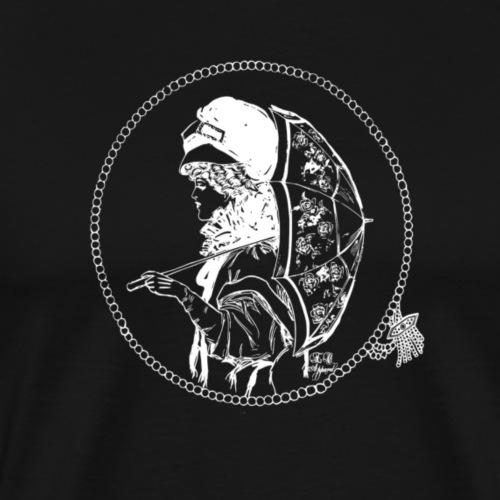 Designer Umbrella Reverse Image - Men's Premium T-Shirt