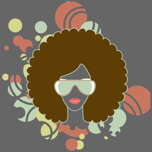 Brown Afro (Abstract) - Men's Premium T-Shirt