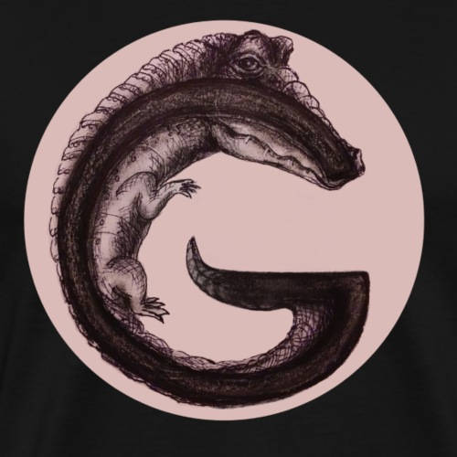 Gator G in circle - Men's Premium T-Shirt